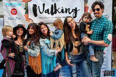 Felipe López, Mireia Canalda, Ares Teixido, Aguasantas y Carla Lladó en Barcelona Petit Walking