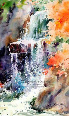 Watercolor by Julie Gilbert-Pollard