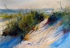 Lake Michigan by Sandy Strohschein Watercolor ~ 22 x 30