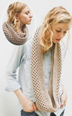 Free Knitting Pattern for Honey Stitch Cowl - This infinity scarf is knit with central panel of honeycomb cables bracketed by twisted rib. Quick knit in bulky yarn. Designed by Davina Choy