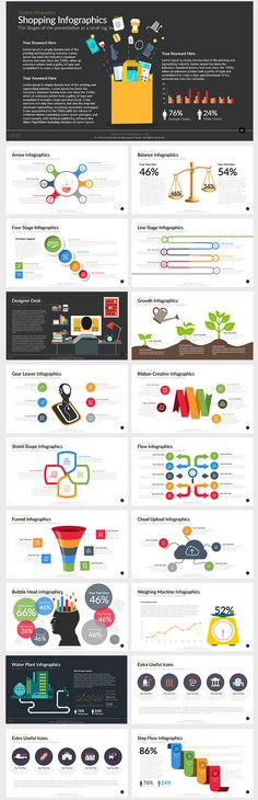 Variety of infographic diagrams Free Vector | Infographic ...