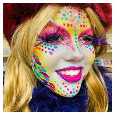 - Famous Last Words Half Elf Bard, Female Clown, Maquillaje Halloween, Character Makeup, Circus Clown, Face Painting Designs, Face Art, Cut And Color, Face And Body