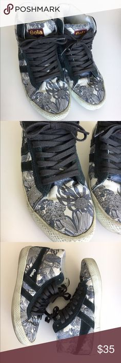 "Gola Floral High Top Sneakers Gola special edition ""Liberty Art Fabrics"" high top sneakers. Some wear as seen in photos. Plenty of life left! Gola Shoes Sneakers"