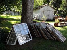 21 Ways to Reuse Old Window Frame Sashes. So many great ways to repurpose windows from the ReStore!