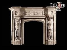 Fireplace Mantels and Surrounds 79650: Beautiful Hand Carved Victorian Style Solid Marble Fireplace Mantel - Lst8 -> BUY IT NOW ONLY: $5500 on eBay!