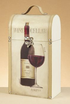 Wood Wine Box Carrier (Tuscan)