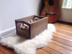Rustic Medium Wooden Storage Crate Rustic Box by RedBarnCollective