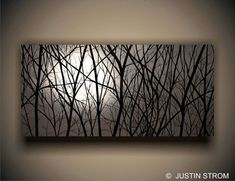 Mondlicht Nachthimmel Malerei Moonlight Print Malerei Nacht