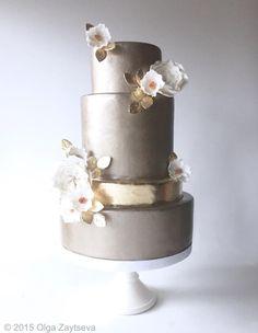 Winter Wedding Cake  by Olga Zaytseva…