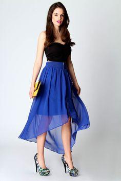 Jenny Zip Front Mixi Skirt. Boohoo.com