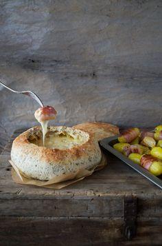 Bluette. » Tartiflette (ou presque) Fondue de Reblochon au pommes de terre et lard fumé