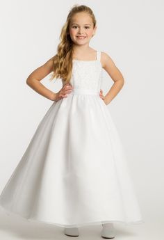 Lace Organza Jacket Flower Girl Dress from Camille La Vie and Group USA