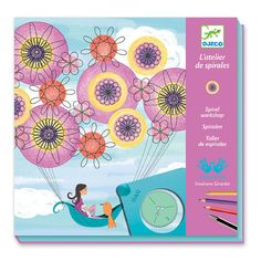 This spirals set is a classic drawing activity given a contemporary twist that makes a great gift for older girls. Place the pretty printed background sheet ove