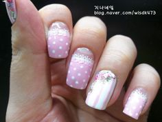 [미카샵]핑크빛 네일아트 : 네이버 블로그