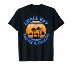Grace Bay Beach Vacation shirt perfect for the beach or for relaxing by the swimming pool shirt. Grace Bay Beach travel shirt. Grace Bay beach shirt. Grace Bay Beach Turks & Caicos souvenir Shirt. #Turks&Caicos #TurksandCaicos #Turks&Caicosshirts #GraceBay Travel Shirts, Vacation Shirts, Beach Shirts, Tee Shirts, Beach Travel, Beach Trip, Turks And Caicos Vacation, Beaches Turks, Grace Bay Beach