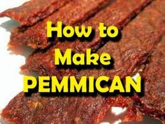 Pemmican is an ancient survival food that has NO SHELF LIFE... You can make this and store it for an emergency food supply in a survival situation. It will last for decades once made so it is absolutely the ultimate survival food. #familysurvivaltips