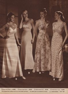 1940s Sears Holiday - Vintage Nightgowns ad