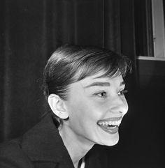Rare Audrey Hepburn — timelessaudrey: Audrey at press...