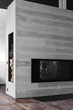 ''Nordic'' vision of fireplace by Dirk Cousaert Design