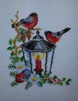 Gallery.ru / Фото #73 - Мое вышитое. - natali71 Cross Stitch Christmas Stockings, Christmas Cross, Painting, Punto De Cruz, Xmas, Embroidery, Crosses, Seed Stitch, Painting Art