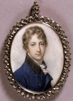 PORTRAIT MINIATURE OF JOHN NORRIS OF HUGHENDEN (1774-.1845) C.1795-1800 (W/C ON IVORY) - RICHARD COSWAY