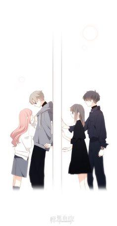 New Wallpaper Celular Amor Parejas Ideas Anime Couples Drawings, Anime Couples Manga, Cute Anime Couples, Manga Anime, Kawaii Chibi, Kawaii Cute, Kawaii Anime, Cover Wattpad, Anime Kiss