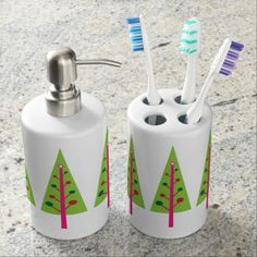 Christmas Trees Bath Set #Tree #Christmas #Bath #Soap #Toothbrush