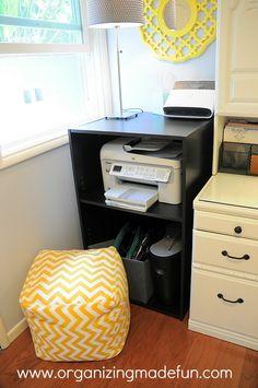 ideas about Printer Storage on Pinterest | Secretary Desks, Computer