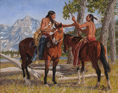 Cowboy And Native American Paintings For Sale Uk Cowboys First