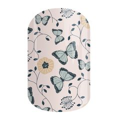 Butterfly Garden | Jamberry - This whimsical nail wrap, 'Butterfly Garden' features beautiful butterflies and garden florals on a soft pale-pink background.