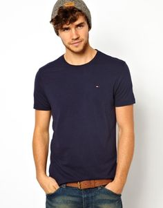 Hilfiger+Denim+T-shirt+with+Crew+Neck