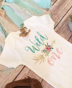 Wild One Wild One Birthday Bodysuit (or T-Shirt, Sleep Sack or Fringe Dress) - Accessories NOT includedThis adorable Boho design...