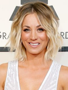 The best bob haircuts at the 2016 Grammys: Kaley Cuoco's blonde waves