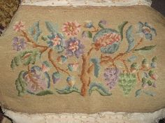 Antique Tree of Life Needlepoint Chair Cover by FleaWhoSaysOUI2
