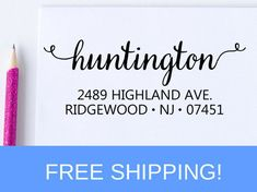 Self Inking Address Stamp - Return Address Stamp - Personalized Stamp - Save The Date Stamp  (D106)