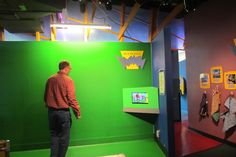 Betty Brinn Children Museum. Kids (and adults!) can play with green screens.