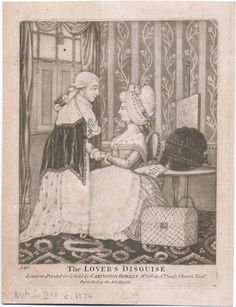 The Lover's Disguise, 1776 print from the Lewis Walpole Library