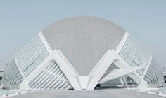 developed by architect santiago calatrava, the center is dotted with white, sublime geometries -- translating it into the \'city of lights\'.