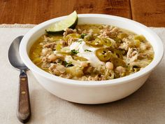 Get this all-star, easy-to-follow White Chicken Chili recipe from Food Network Kitchen
