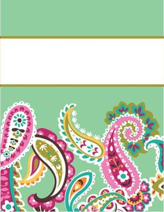 binder covers - free printables (if you have enough color ink...)
