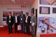 Everest Engineering Equipment Pvt Ltd at Bauma India 2014. Mr. PV Ramdev with special Guests