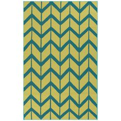 Jill Rosenwald by Surya Fallon Arrows Olive Oil Hand Woven Rug @Zinc_Door