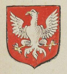 René MOREAU, prêtre chanoine de Beaupreau. Porte : de gueules, à une aigle d'argent bequé et membré d'or | N° 44 > Angers