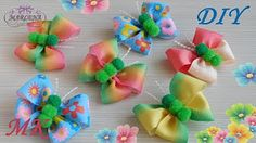 Butterfly-bow of ribbons DIY MARLENA-Hand Made - YouTube