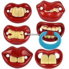 New Kids Pacifiers Dummy Baby Teether Pacy Orthodontic Nipples Lips Novelty ESY1