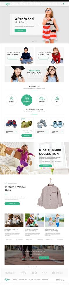 Kidos is modern and fresh design #PSD template for #Kids #shopping #eCommerce website download now➩ https://themeforest.net/item/kidos-kids-clothing-ecommerce-psd-template/18705291?ref=Datasata