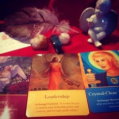 The cards that came up today Archangel Haniel's Sensitivity Archangel Gabriel's Leadership and Archangel Michael's Crystal Clear Intentions show a picture of honoring your sensitivities when stepping into a leadership role or even pursuing one. Right now it is extremely important for you to surround yourself with people who will not only take you to the next level but who will also be kind and respectful along the way.  Take the time to really think about exactly what it is you want in life…