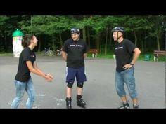 Lekcja z instruktorem, nauka hamowania i skręcania na rolkach - Film instruktażowy SportRebel TV - YouTube