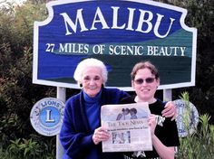 Now Being Read in California! Bryce Jacobs and his Nana Mimi in Malibu, CA reading the Taos News.