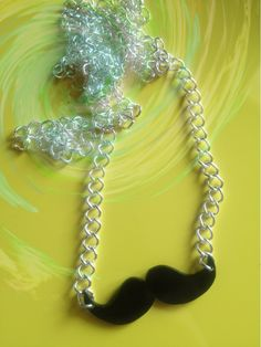 Mustaches necklace